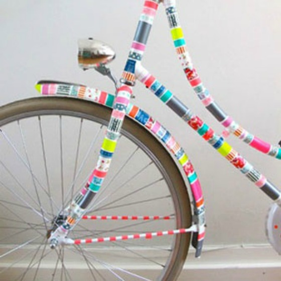 All of the things washi tape for Bike decorating ideas