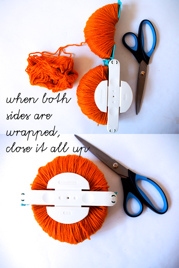 How to use a clover pom pom maker