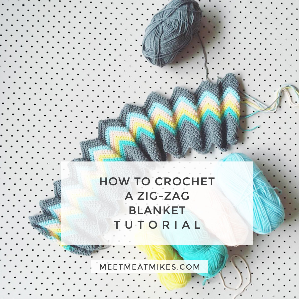 Tutorial how to crochet a zali zig zag chevron blanket ccuart Image collections