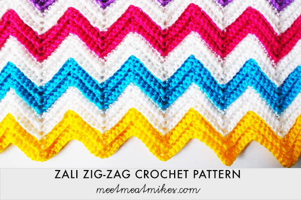 Tutorial how to crochet a zali zig zag chevron blanket hello ccuart Image collections