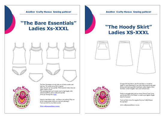 Crafty Mamas Sewing Patterns