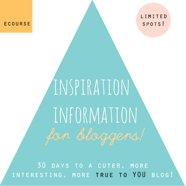inspiration information for bloggers