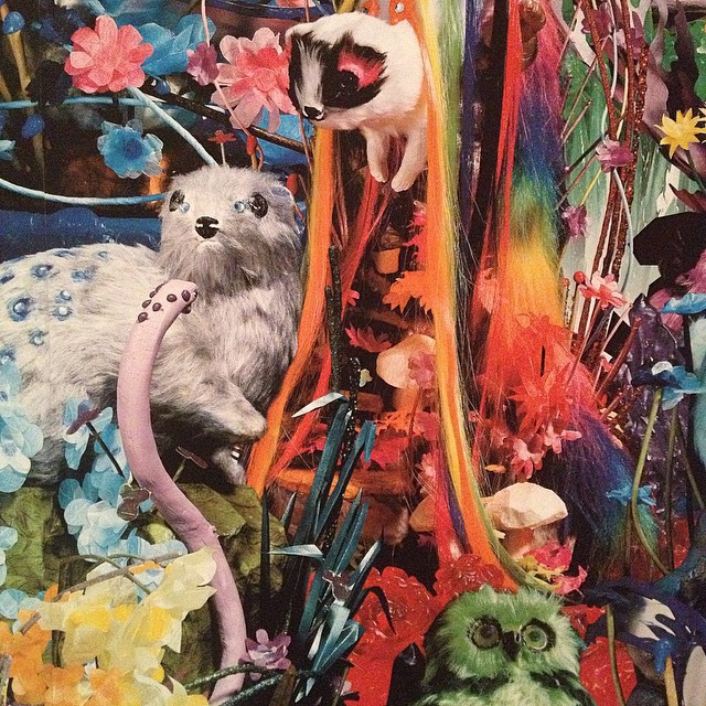 Oh My Sloth! Or otter! Or something! Part of @romancewasborn at @ngvmelbourne : I think this print is a collab with @sparklycrystal Kate Rhode..! #expressyourself Thanks for the fun times @wangarattaartgallery Sally!