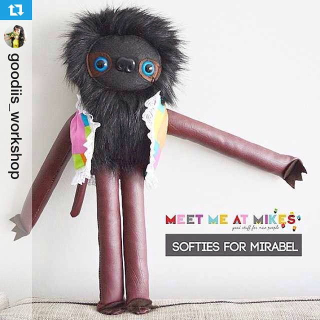 Super cute guy made for #softiesformirabel - reposted from @goodiis_workshop - thank you for joining in!! (More details on my blog!) --- ????❤ @goodiis_workshop is supporting Softies For Mirabel TOY DRIVE!!! MR. CLOWN SLOTH is heading to @softiesformirabel for a special lil someone this Christmas!! YAY!! Make a softie + help support a Mirabel child. This is my 2nd year I've participated in making a softie! The lovely Pip from @meetmeatmikes helped organise this awesome toy drive 8yrs ago!! Come join in on the fun, crafty friends!! ????❤ Maria x  #goodiis_workshop #softiesformirabel #igers #sloths #craft #softies #plushies #toys #unique #handmade #love #me #madeinmelbourne #goodiis #new #today #fun #follow #creative #insteresting #Melbourne #themanyshirtsofmrsloth #mrslothadventures