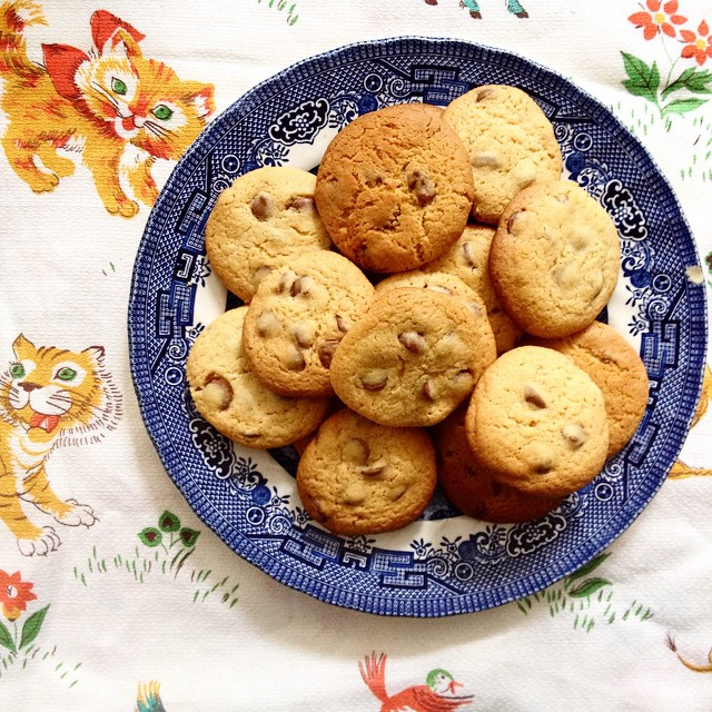 On my blog today : the best choc chip cookies!