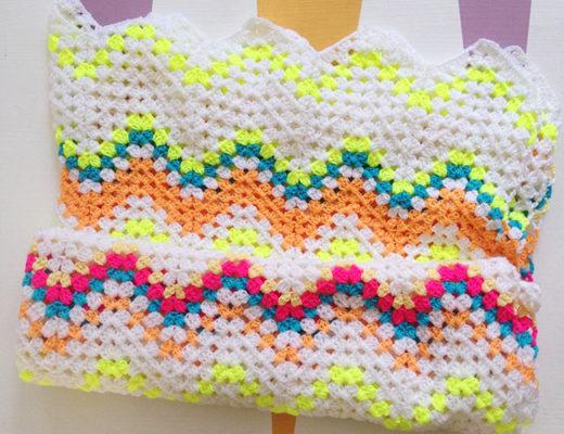 Crocheted Granny Ripple Blanket