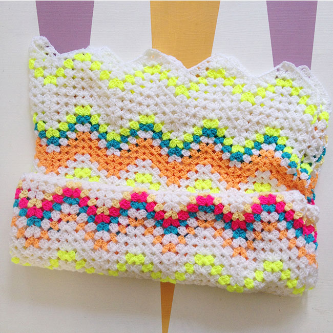 Crocheted Granny Ripple Blanket