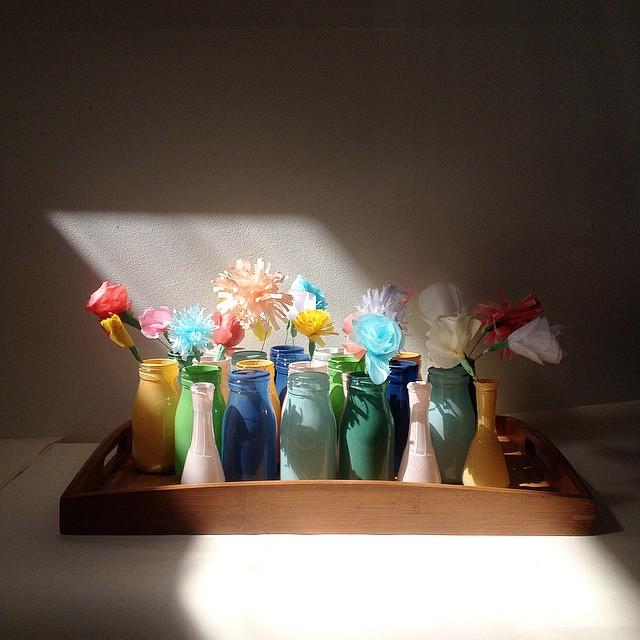 18 December : 18 paper flowers #advent