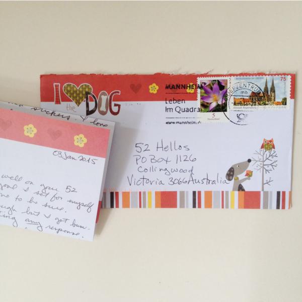 52 hellos carla envelope