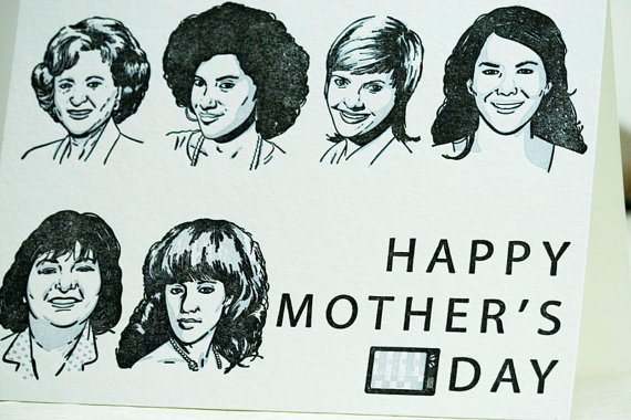 sit com moms mothers day card
