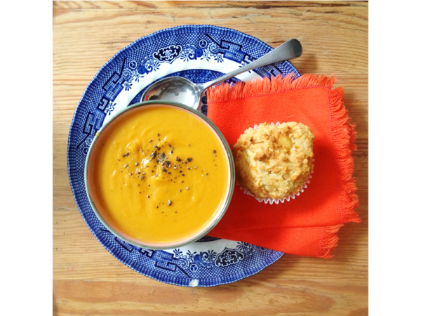 half and half pumpkin soup