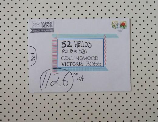 hello tania envelope