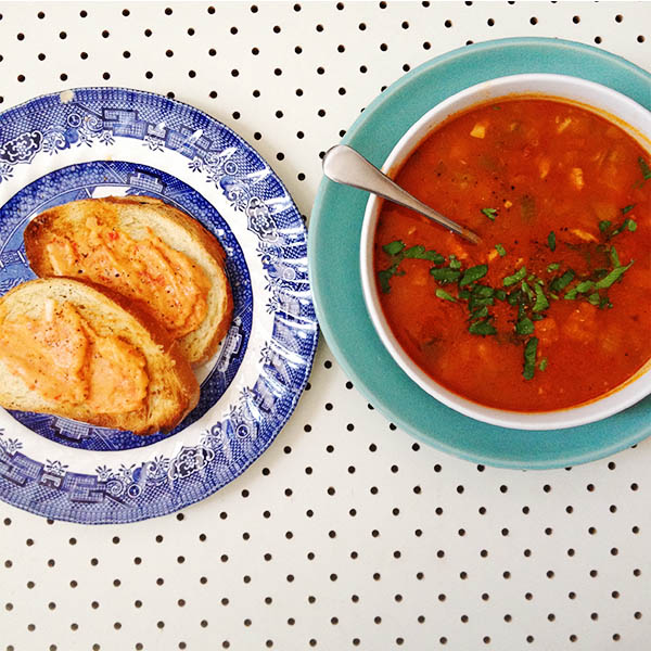 soup and toast one