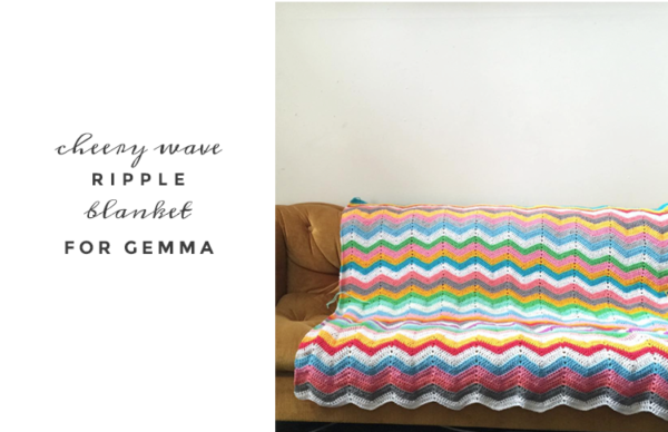cheery wave ripple blanket by pip