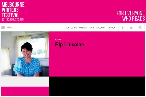Pip Lincolne Melbourne Writers Festival