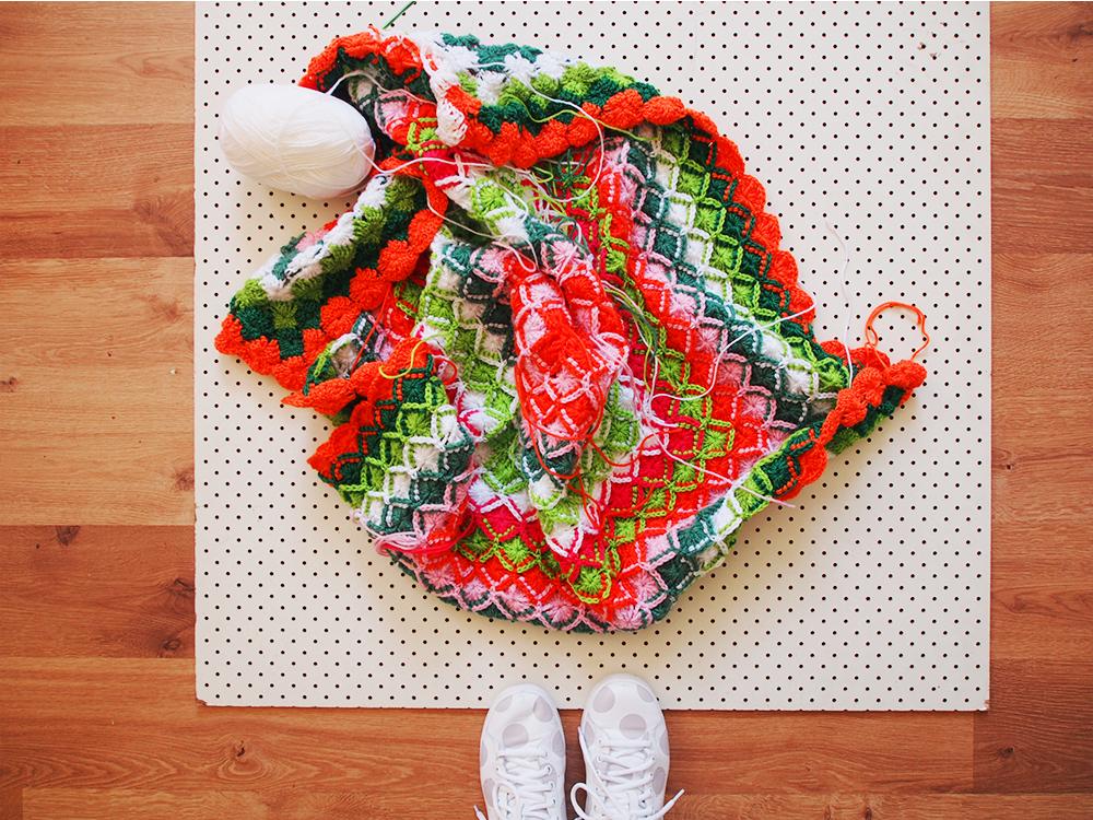 bavarian crochet blanket progress