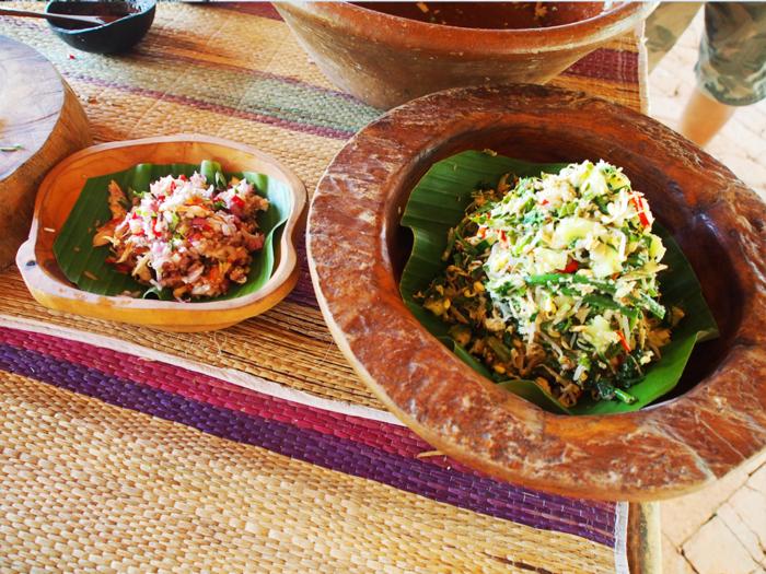 salad and raw sambal