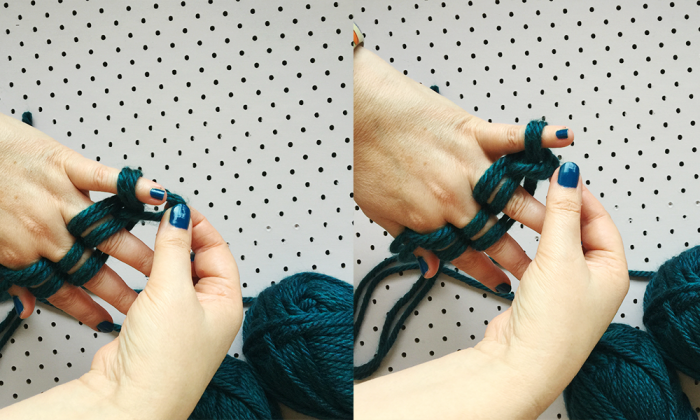 how to finger knit five