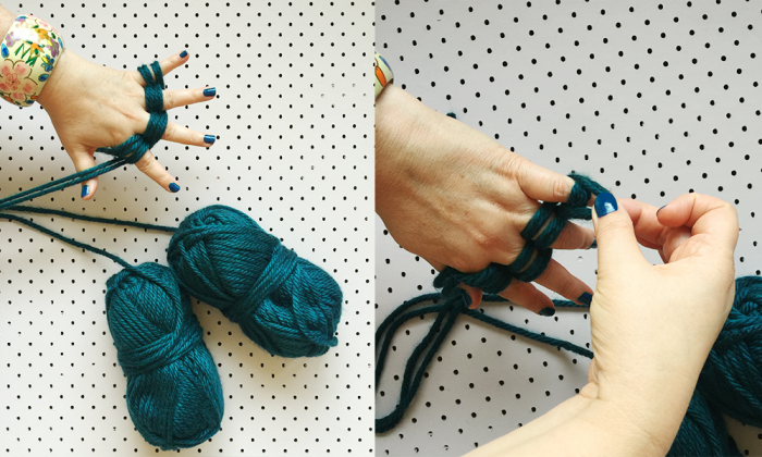 how to finger knit four