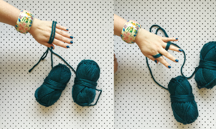how to finger knit one