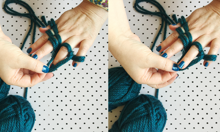 how to finger knit six