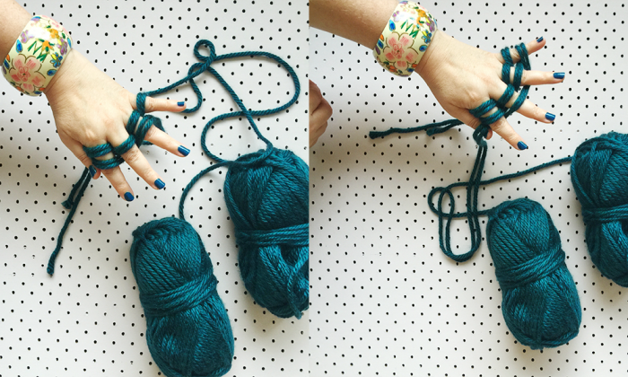 how to finger knit three
