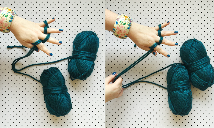 how to finger knit two