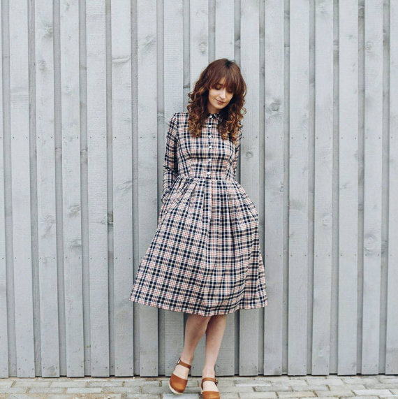 OffOn Plaid Dress on Etsy