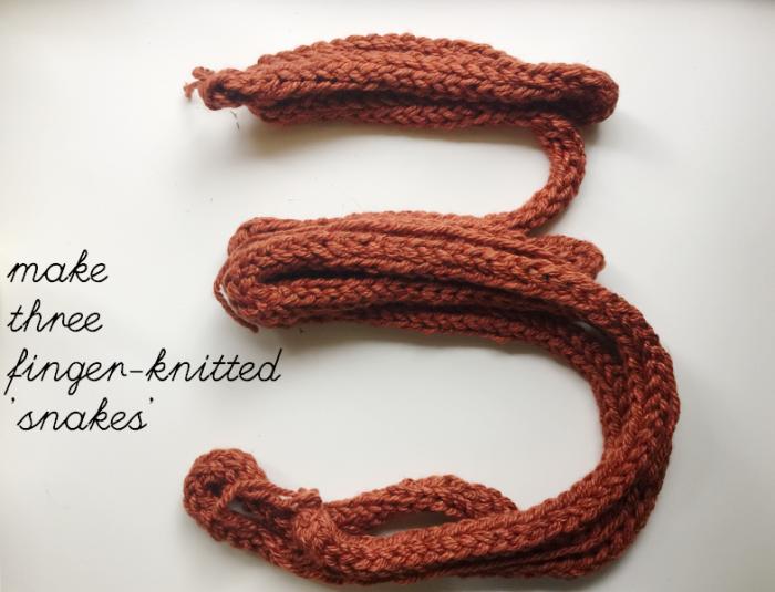 make three snakes