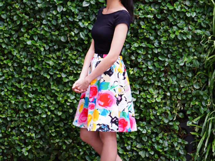 Floral Colour Pop Skirt by DressKeeper
