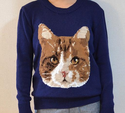 Amimono Horinouchi Cat jumper