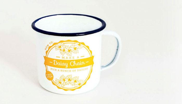 Daisy Chain Enamel Mug