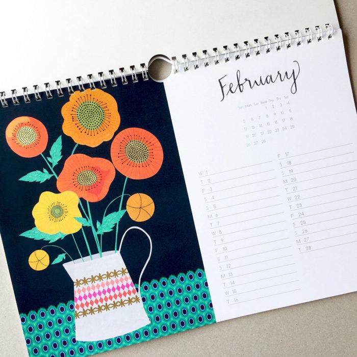 margin made the Floral Calendar