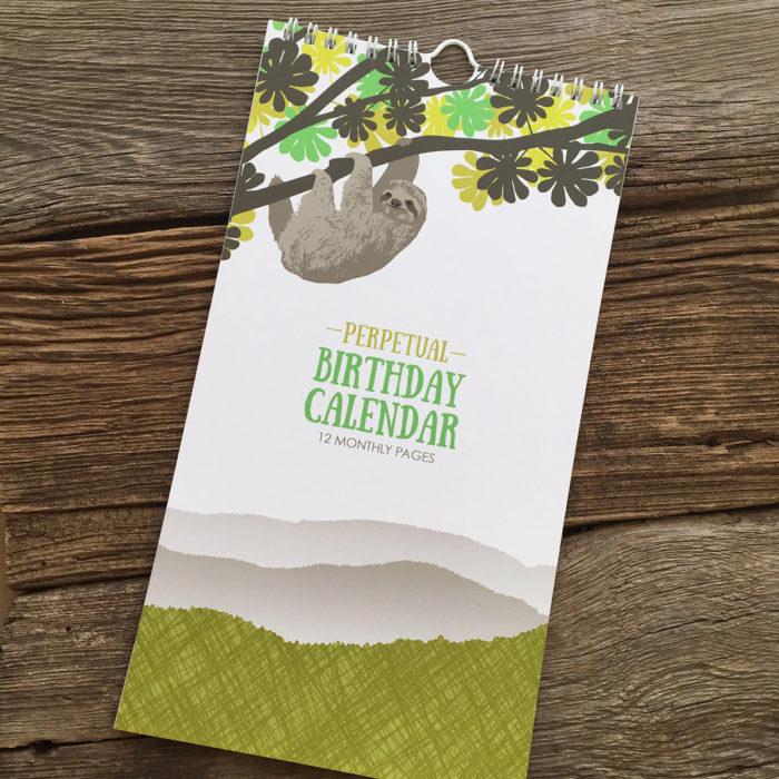 ModernPrintedMatter made the Perpetual Birthday Calendar