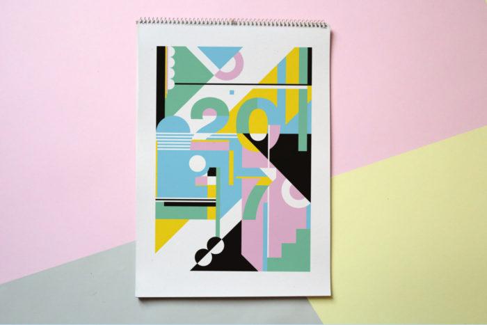 AtelierElcid made the Modern Wall Calendar