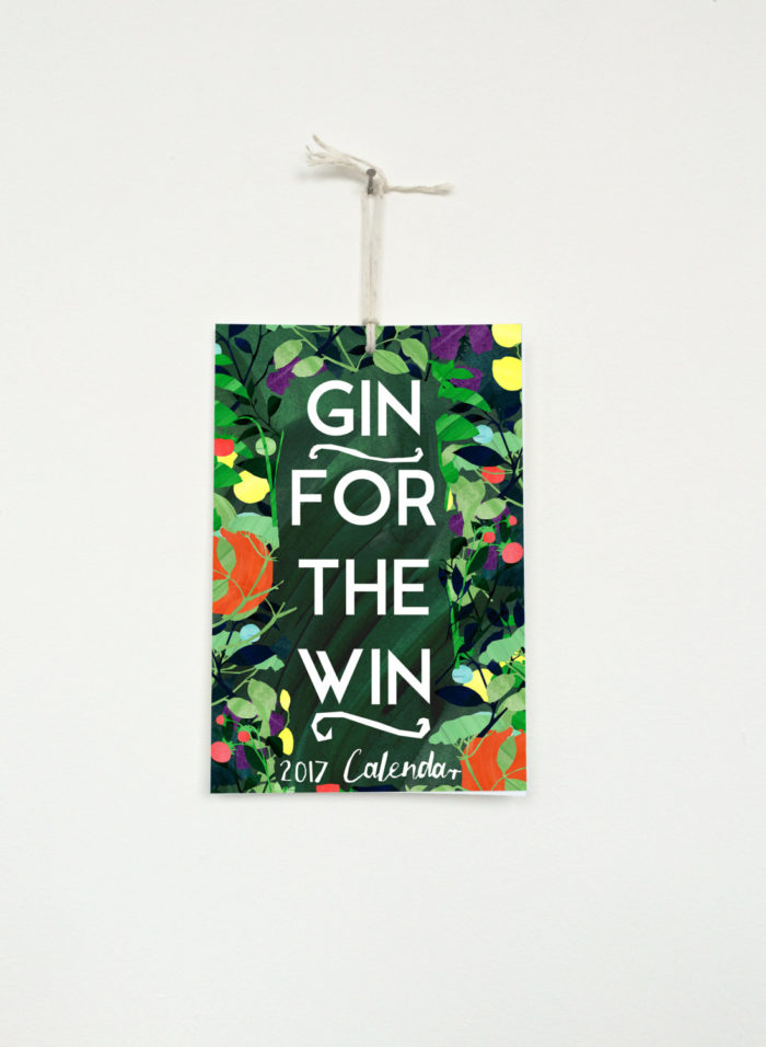constanceandclay made the Gin For The Win Calendar