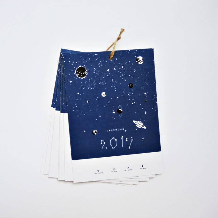 PlutoKaleidoscope made the Solar System Wall Calendar