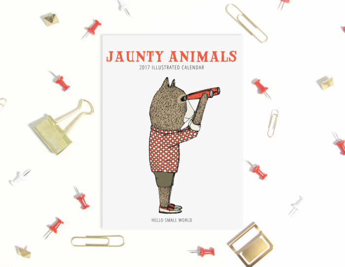 hellosmallworld made the Jaunty Animals Calendar