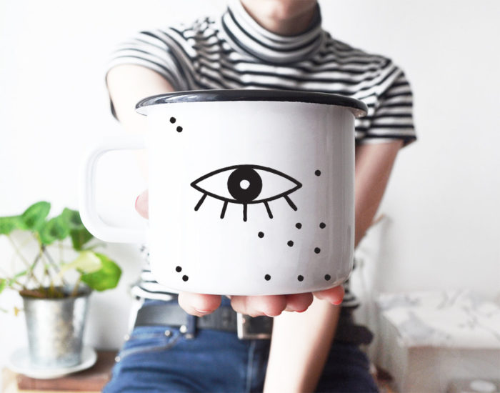 enamel eye mug