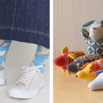 knitted animals and pigeon socks