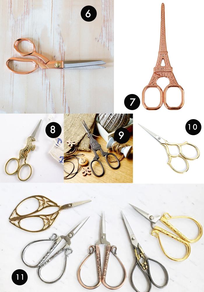 scissors collage a la pip