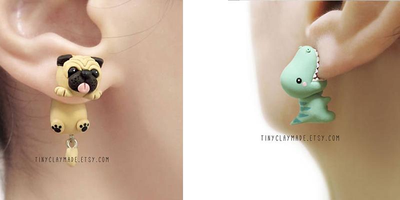 Tiny Clay Made earrings lead