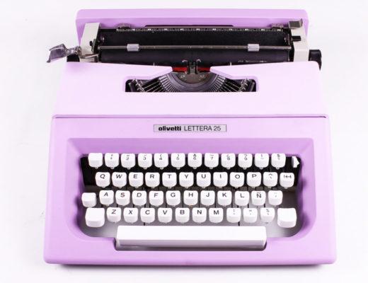 Lilac typewriter