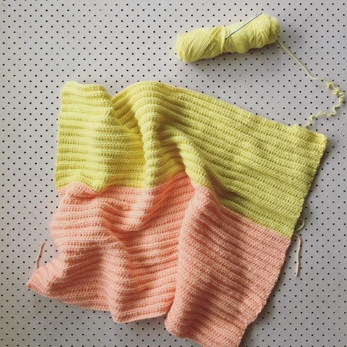 Lemon and Peaches Blanket