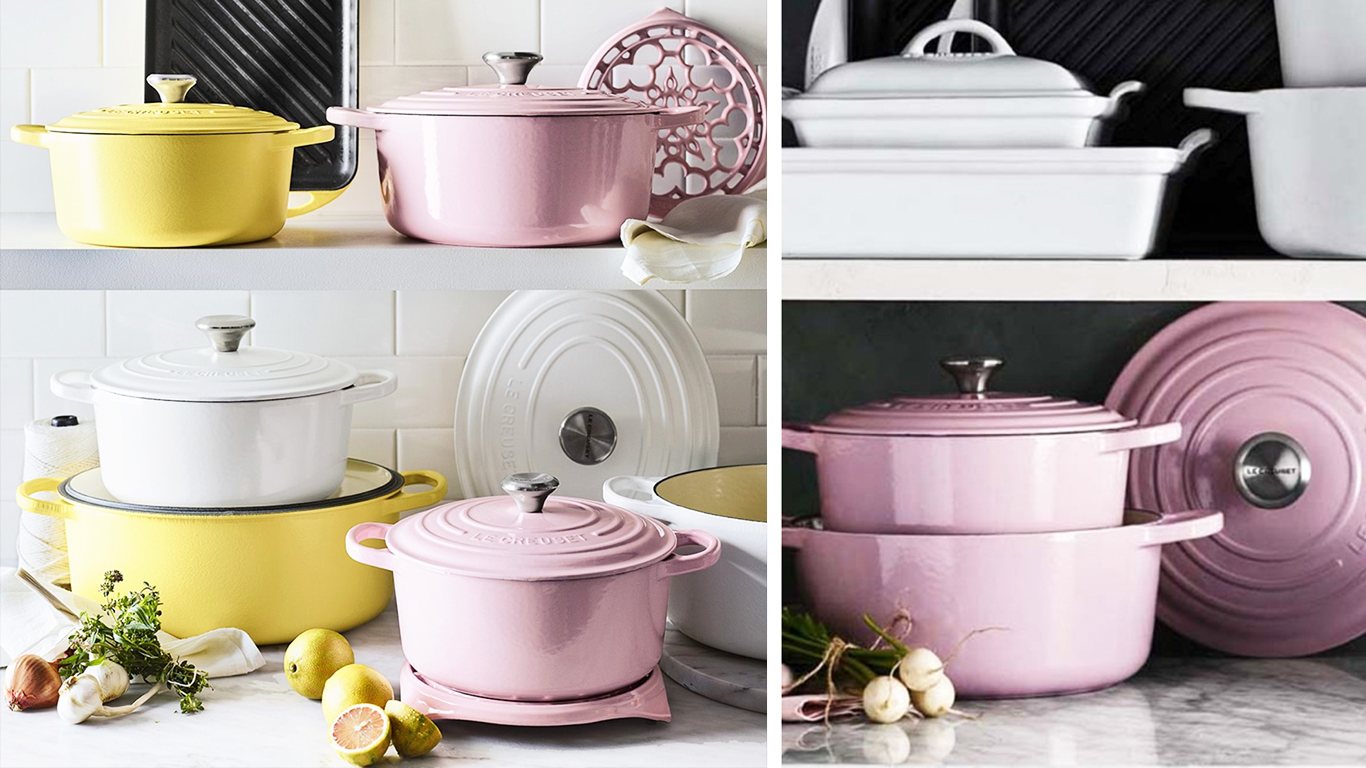 Delicious! Pink Le Creuset pots