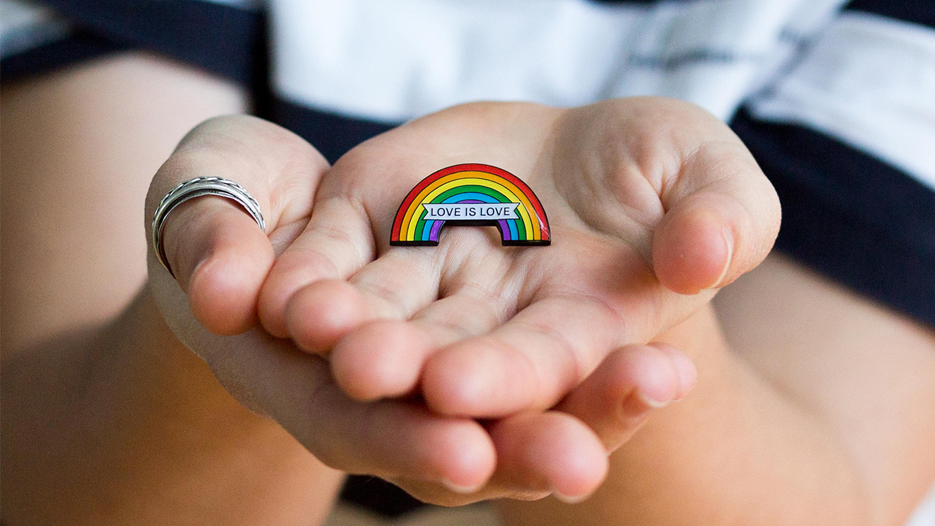 Love is Love pin by My Bearded Pigeon