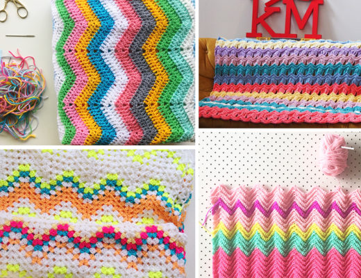How to crochet a ripple blanket