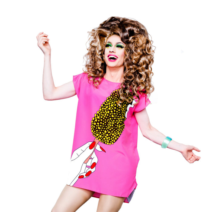 Golden Gaytime Dress by Frida Las Vegas