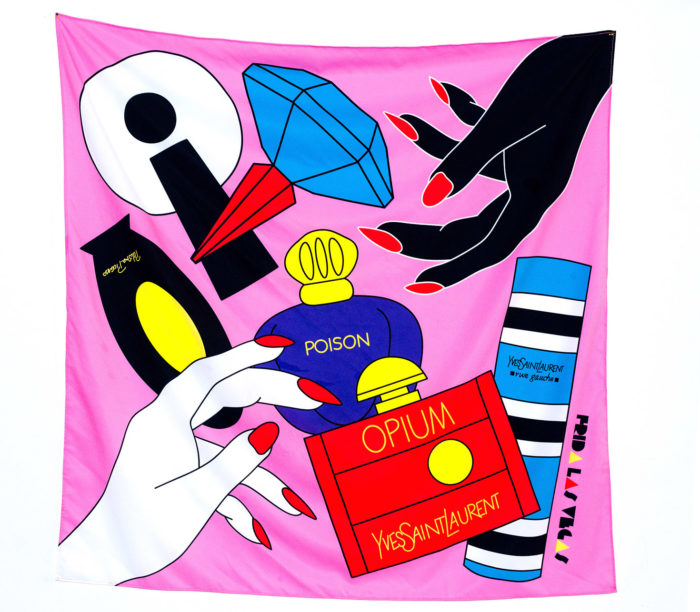 80s mum perfume scarf by Frida Las Vegas