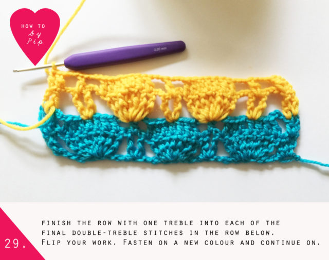 How to crochet a Fanny Blanket by Pip Lincolne